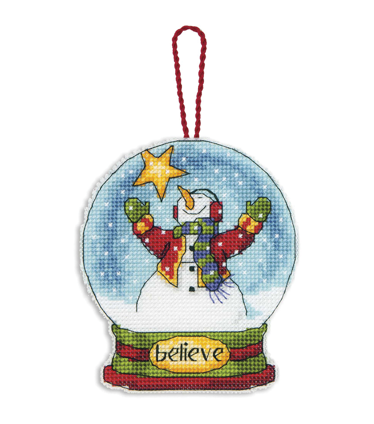 Dimensions Counted Cross Stitch Kit Believe Snowglobe