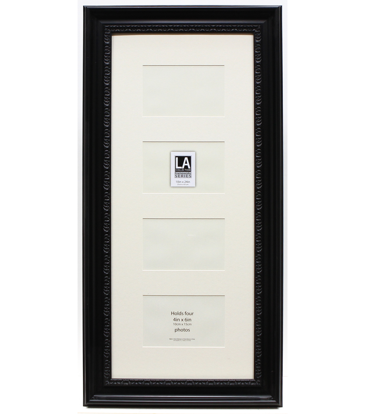 LA Collection Collage Frame 10x24-Black/Cream