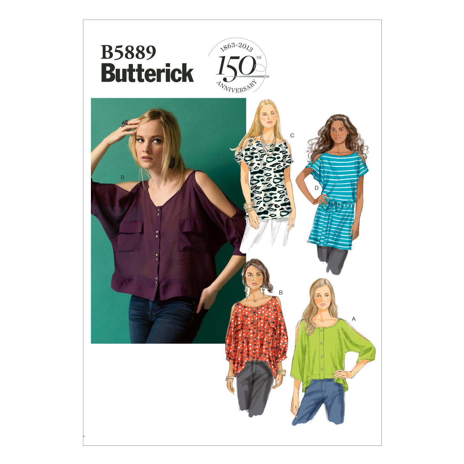 Butterick Misses Top-B5889