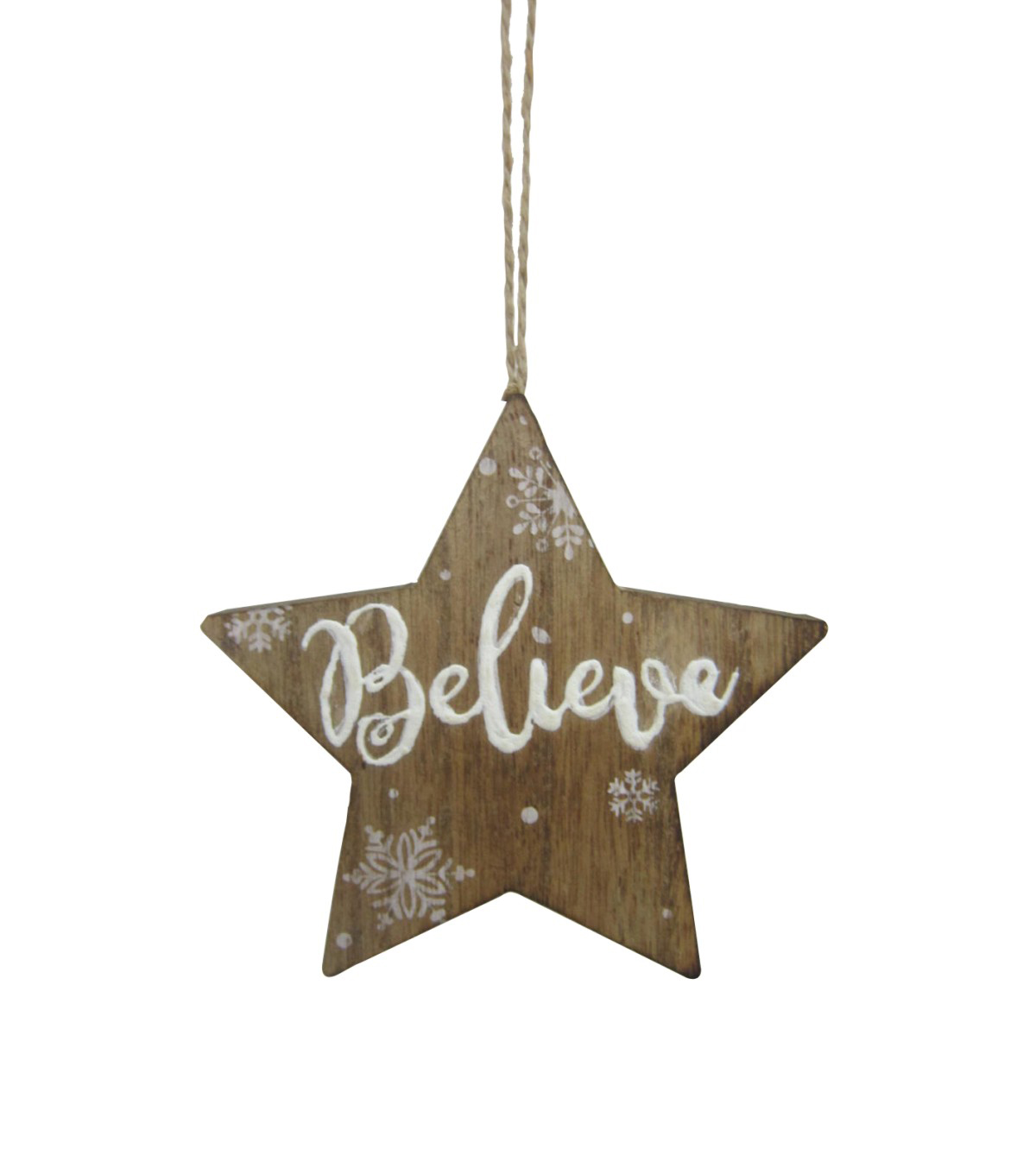 Maker\u0027s Holiday Christmas Handmade Holiday Wood Star Ornament-Believe