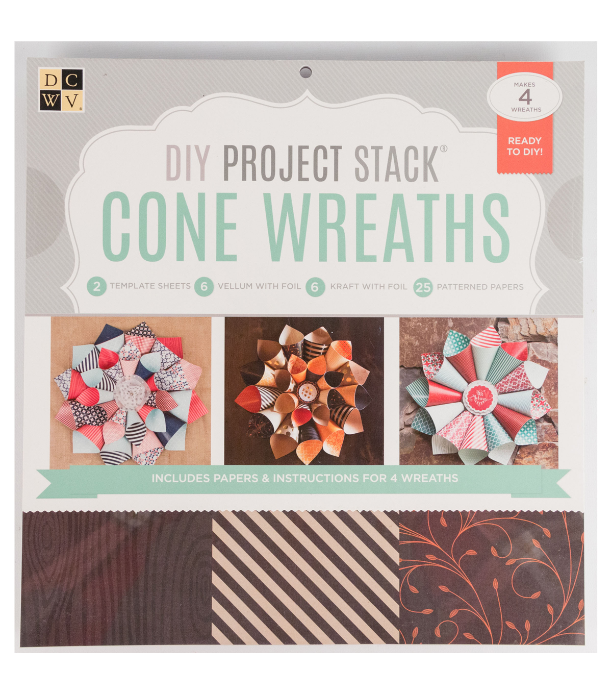 DCWV DIY Project Stack: Cone Wreaths