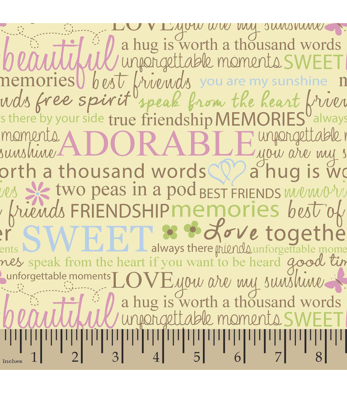 """Quotes About Friendship Memories Snuggle Flannel Fabric 42""""friendship Quotes  Joann"""