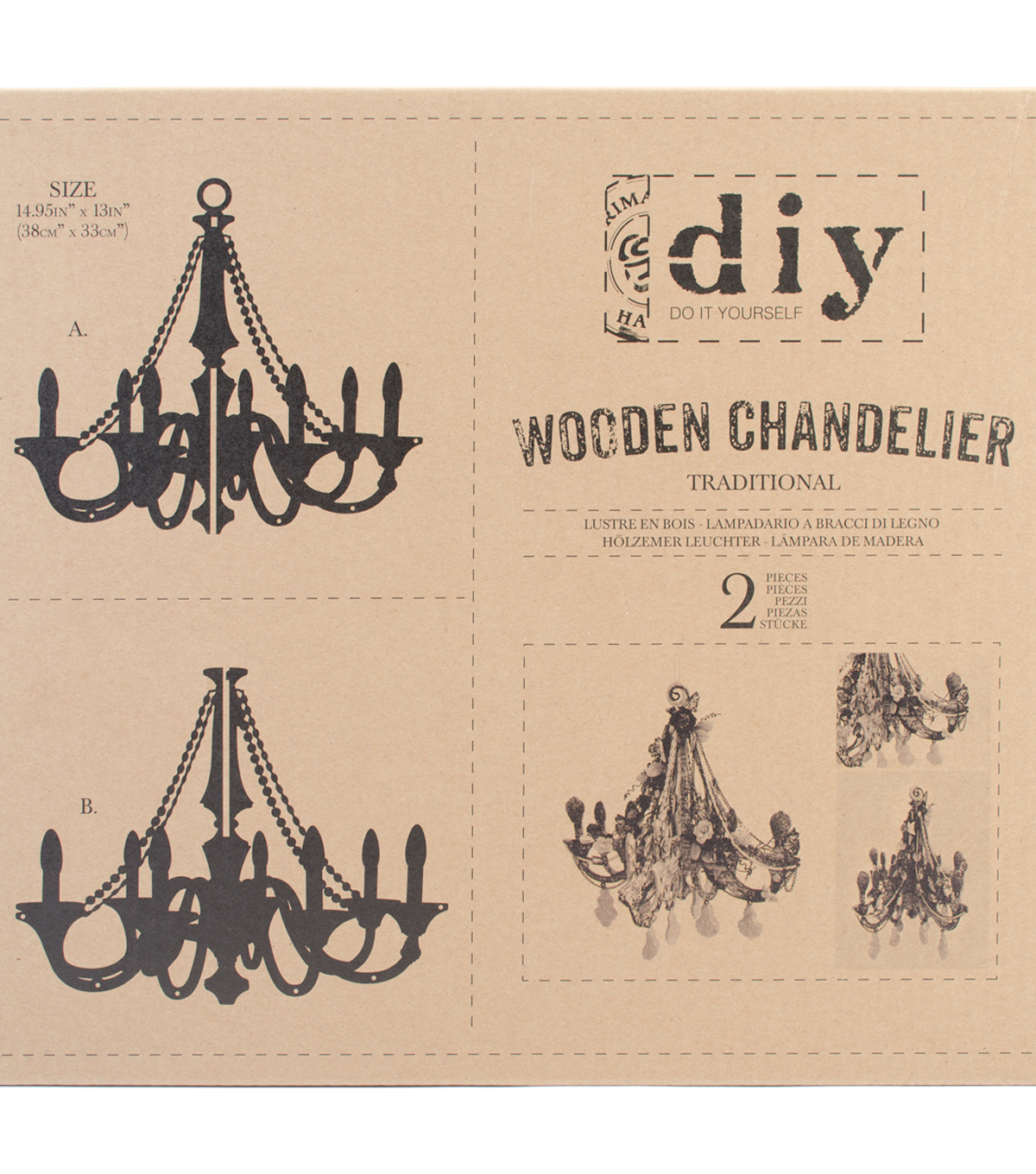 Traditionl-diy Wd Chandelier