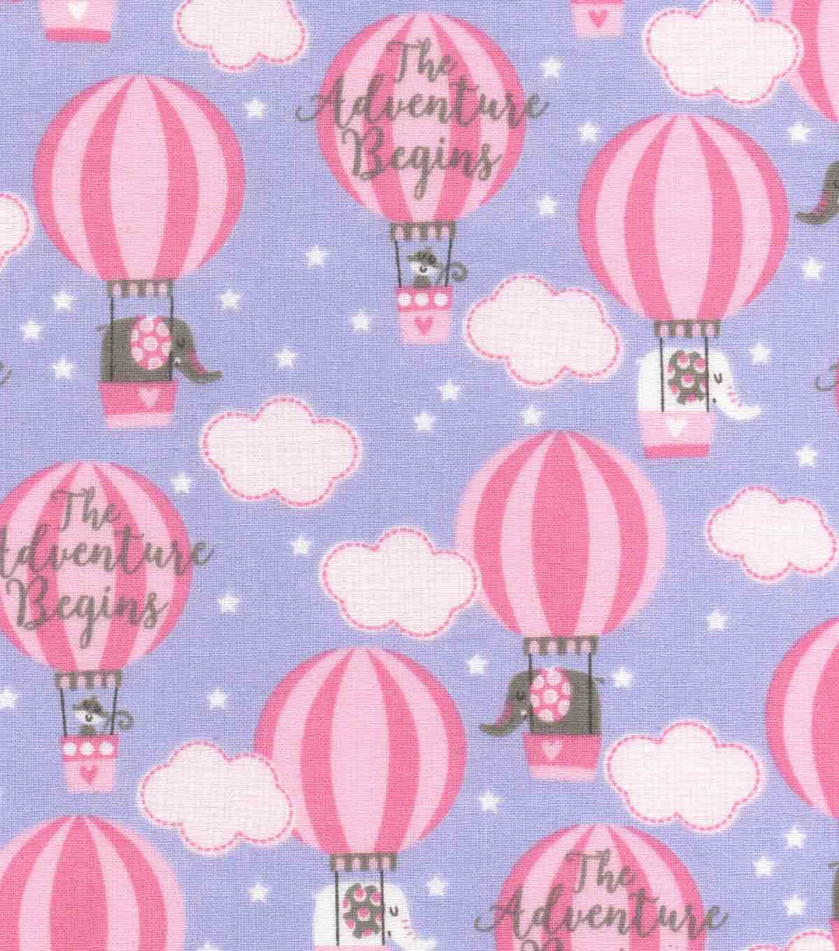 Nursery Cotton Fabric 43\u0027\u0027-Adventure Balloons