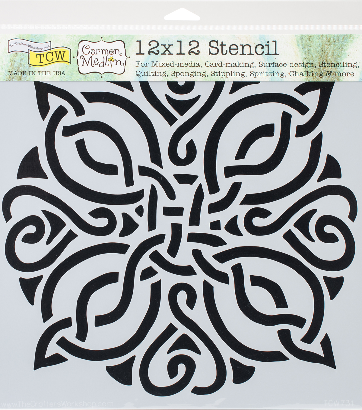 Crafter\u0027s Workshop Carmen Medlin Template 12\u0027\u0027x12\u0027\u0027-Celtic Knot