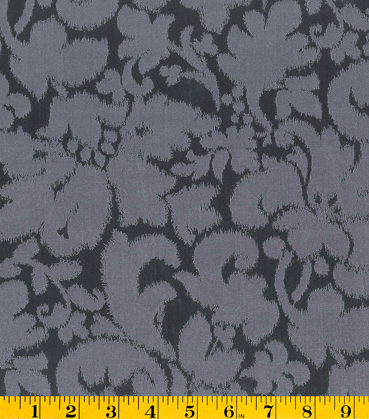 Gertie Collection Jacquard Fabric 56\u0022-Black & Gray