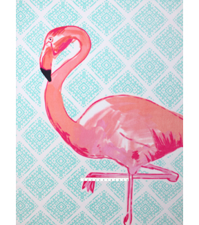 No-Sew Throw Fleece Fabric 72\u0022-Flamingo