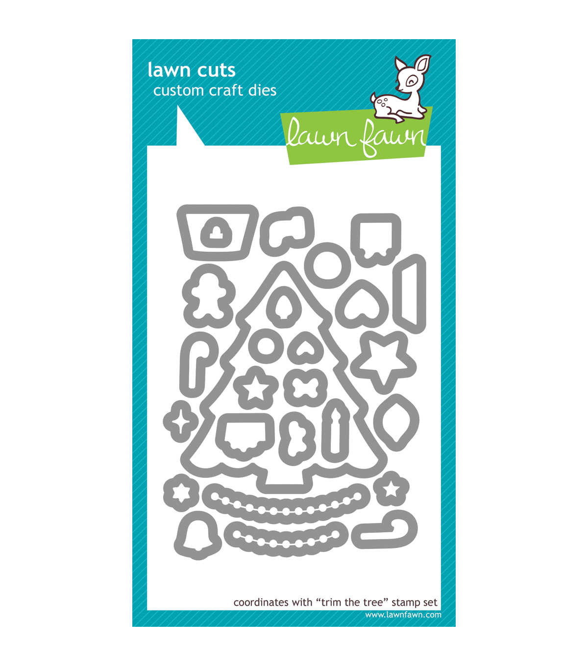 Lawn Fawn Lawn Cuts Custom Craft Die-Trim The Tree