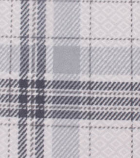 Anti-Pill Fleece Fabric 59\u0022-Patterned Plaid Gray