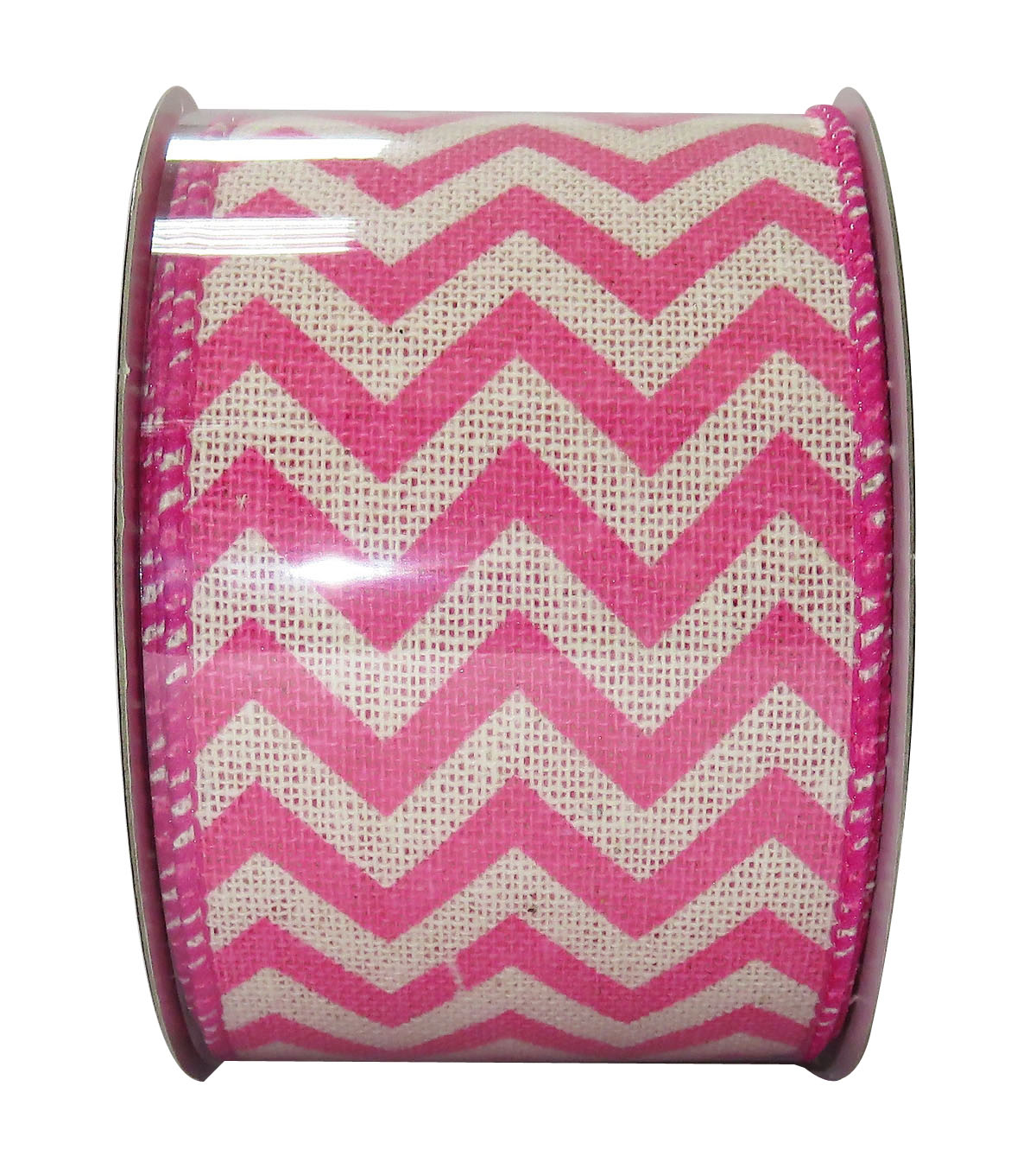 Decorative Ribbon 2.5\u0027\u0027 X 15\u0027-Pink Chevron
