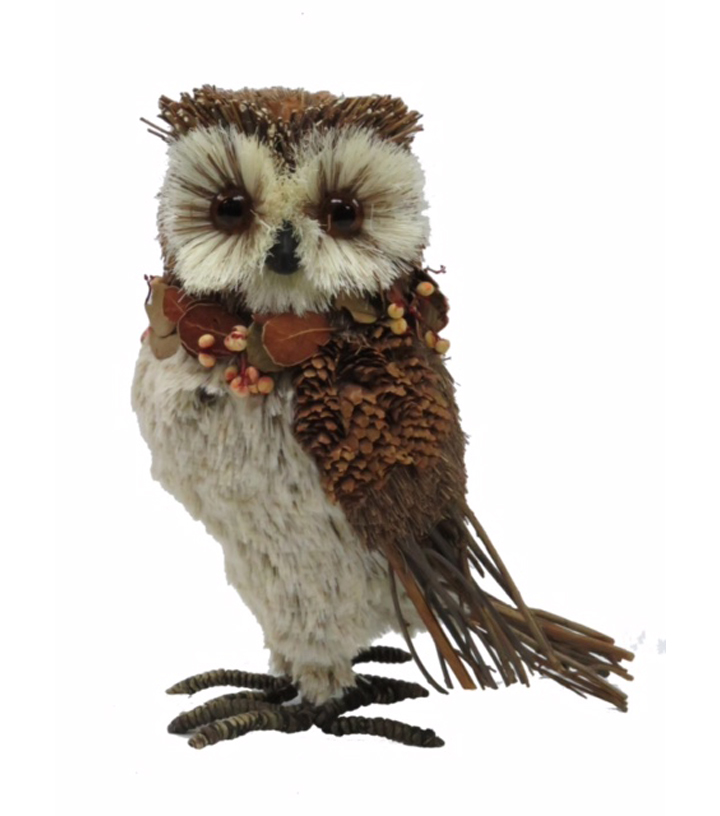 Blooming Autumn 10'' Furry Natural Owl
