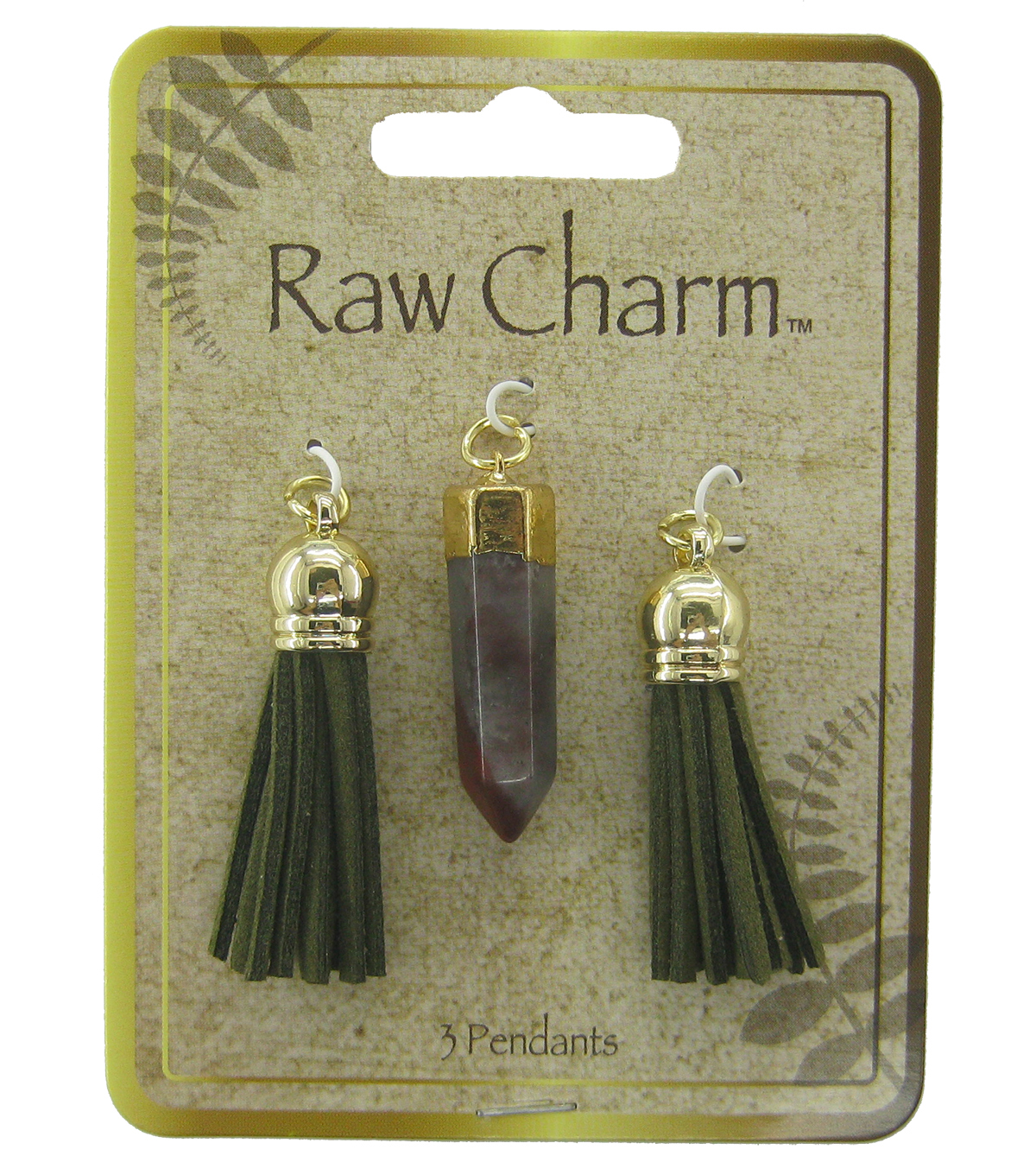 Naturals Raw Charm Tassels And Charms