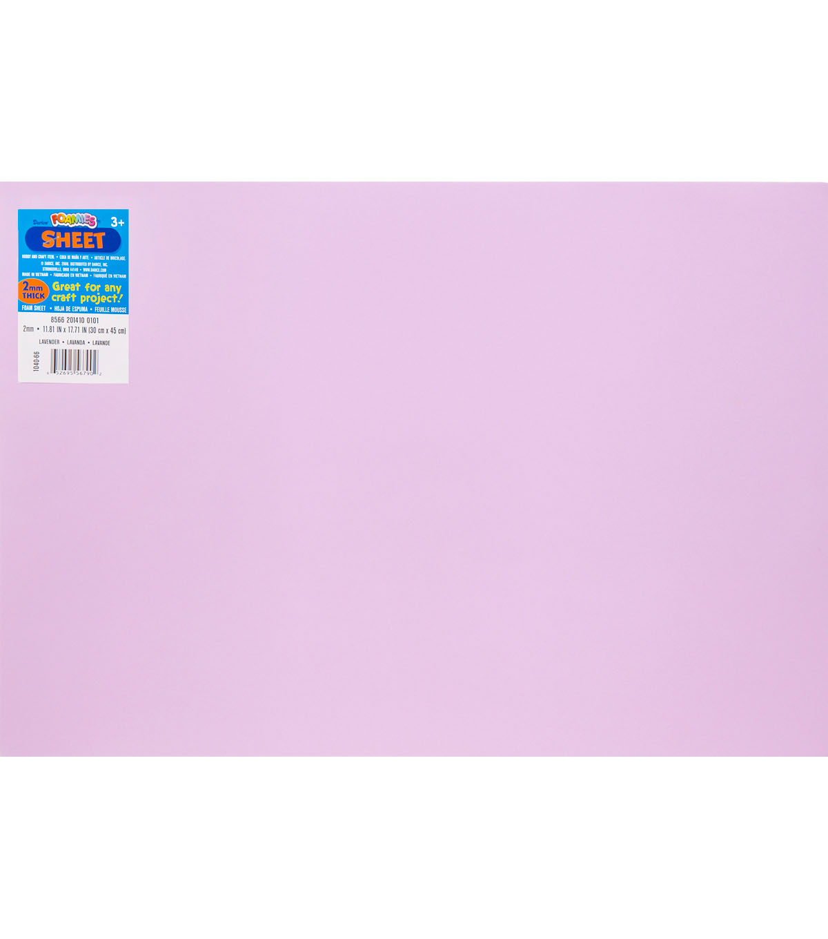 Darice Foamies Foam Sheet 2mm 12\u0027\u0027X18\u0027\u0027 10pcs