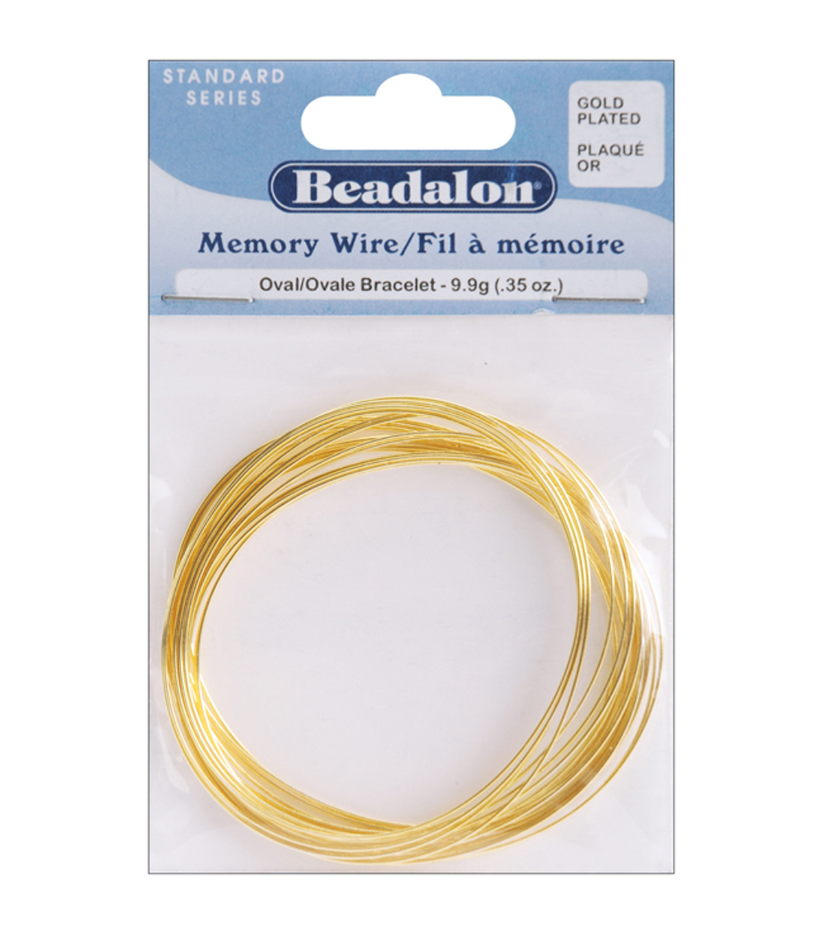 Gold Plated Memory Wire Oval Bracelet .35 OzPK-Approx 23 Loops