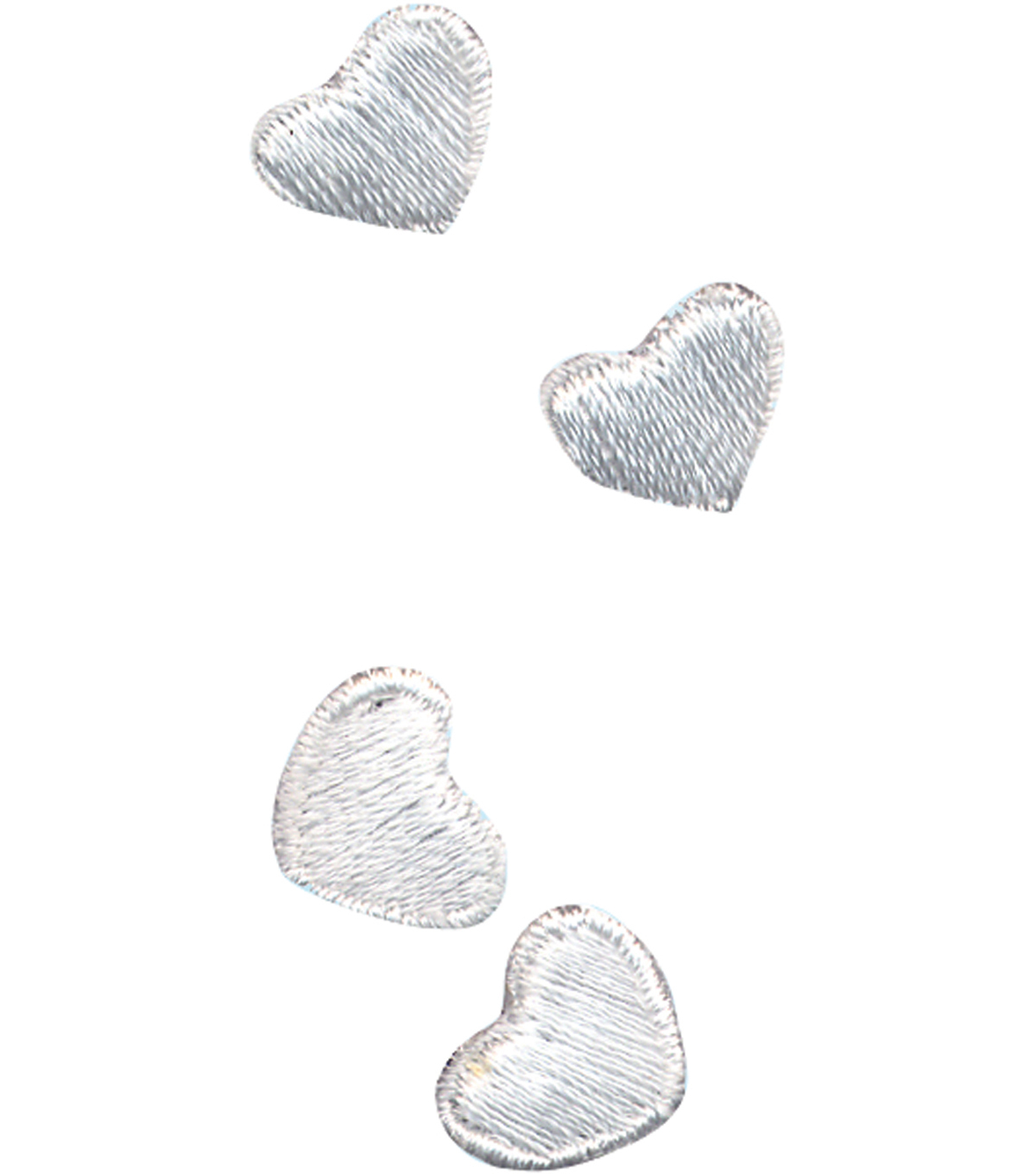 Wrights® Iron-On Appliques-White Hearts 3/8\u0022X1/2\u0022 4/Pkg