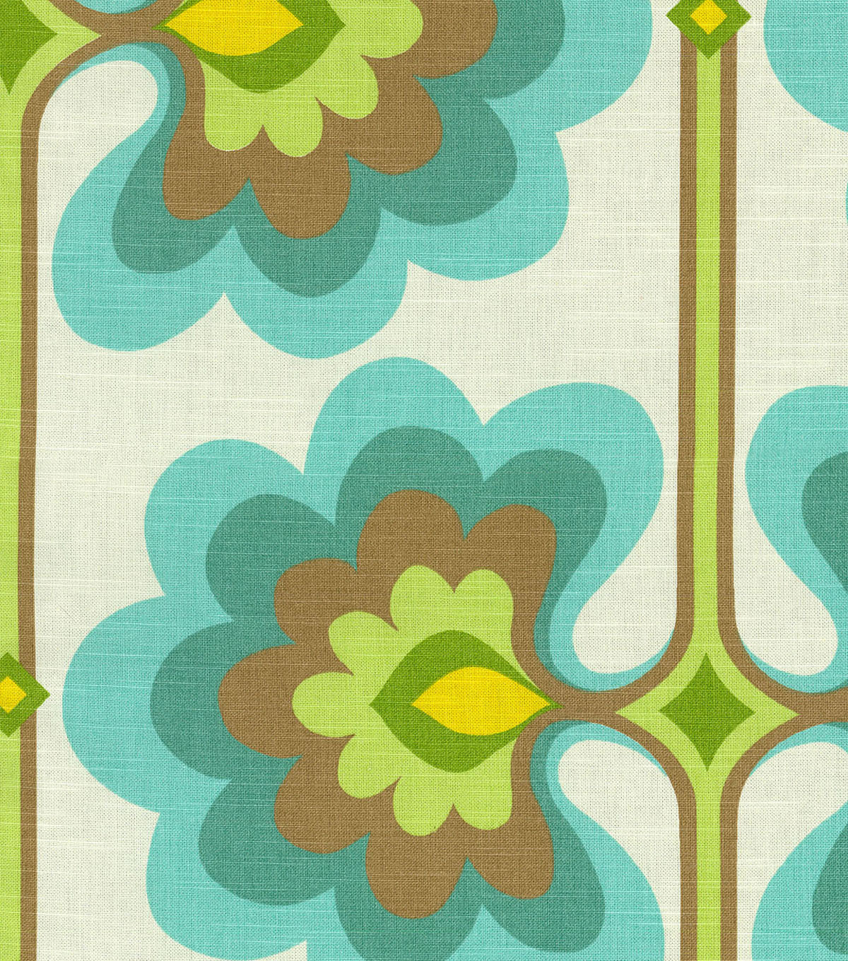 "Home Decor 8""x8"" Fabric Swatch-HGTV Home Flower Tower Turquoise"
