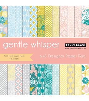 Penny Black Gentle Whisper Paper Pad 6''x6''