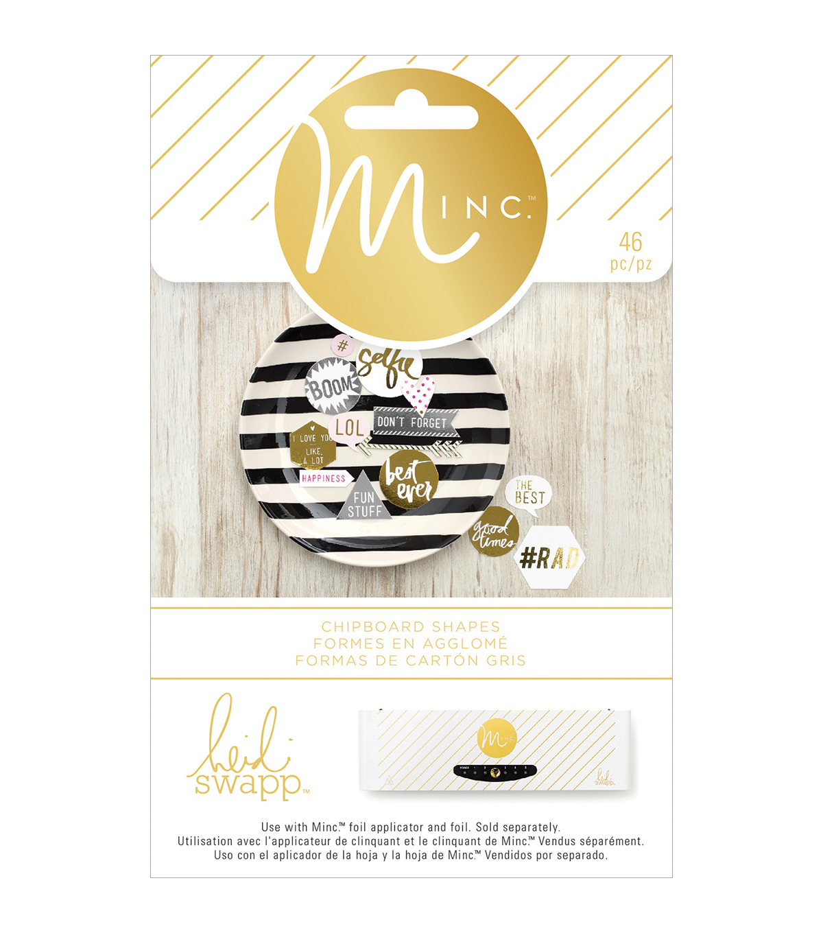 Heidi Swapp Minc Chipboard Shapes 46/Pkg