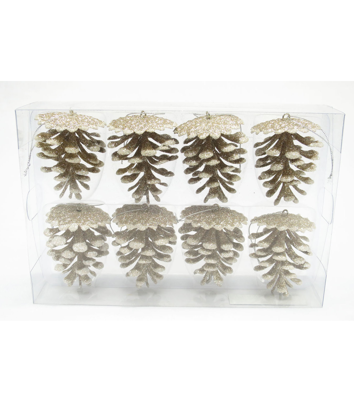 Maker\u0027s Holiday 8ct Pinecone Ornaments-Gold
