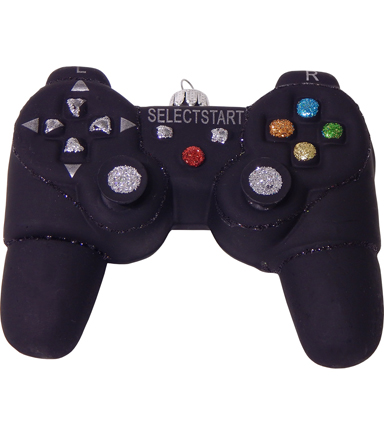 Maker\u0027s Holiday Christmas Video Game Controller Ornament-Black