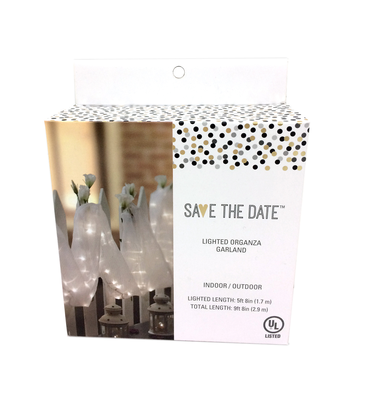 Save The Date Lighted Organza Garland