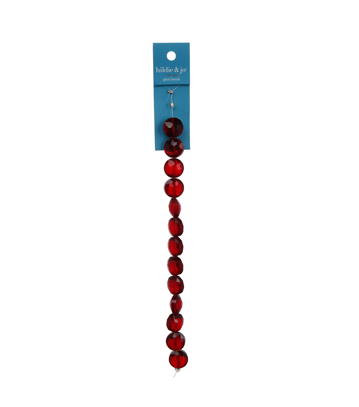 "Blue Moon Beads 7"" Crystal Strand, Coin-Shaped with flower facets, Red"