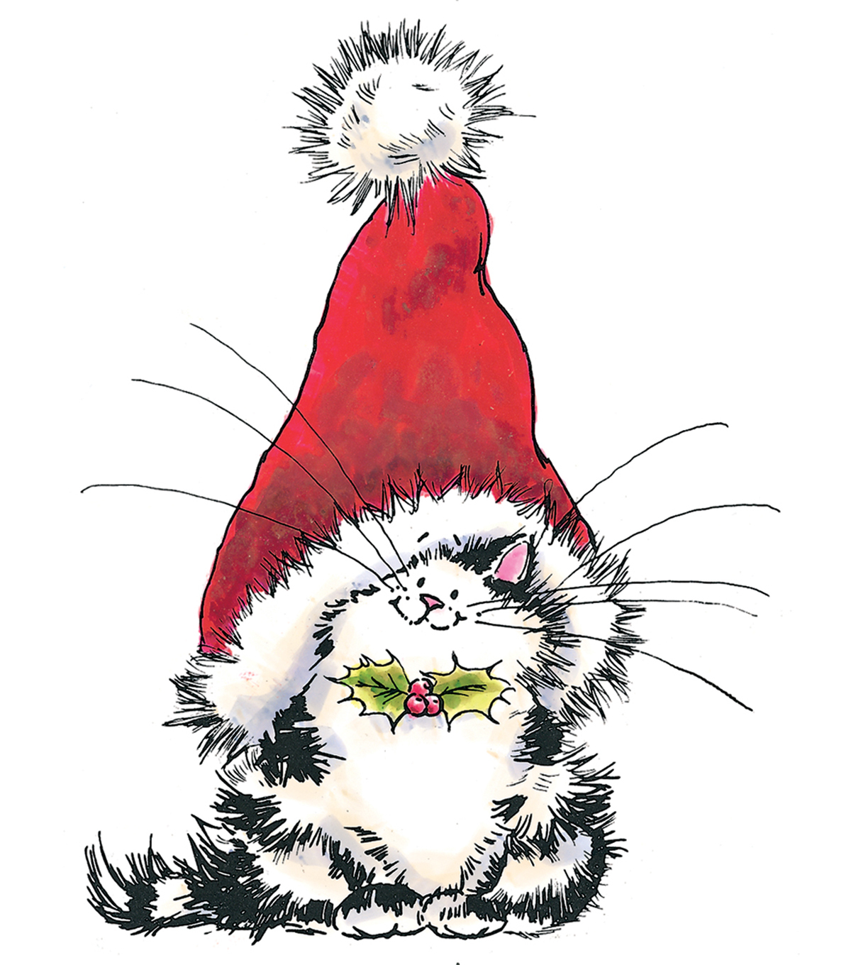 Penny Black Rubber Stamp 3.5\u0022X4.5-Jolly Xmas Kitty