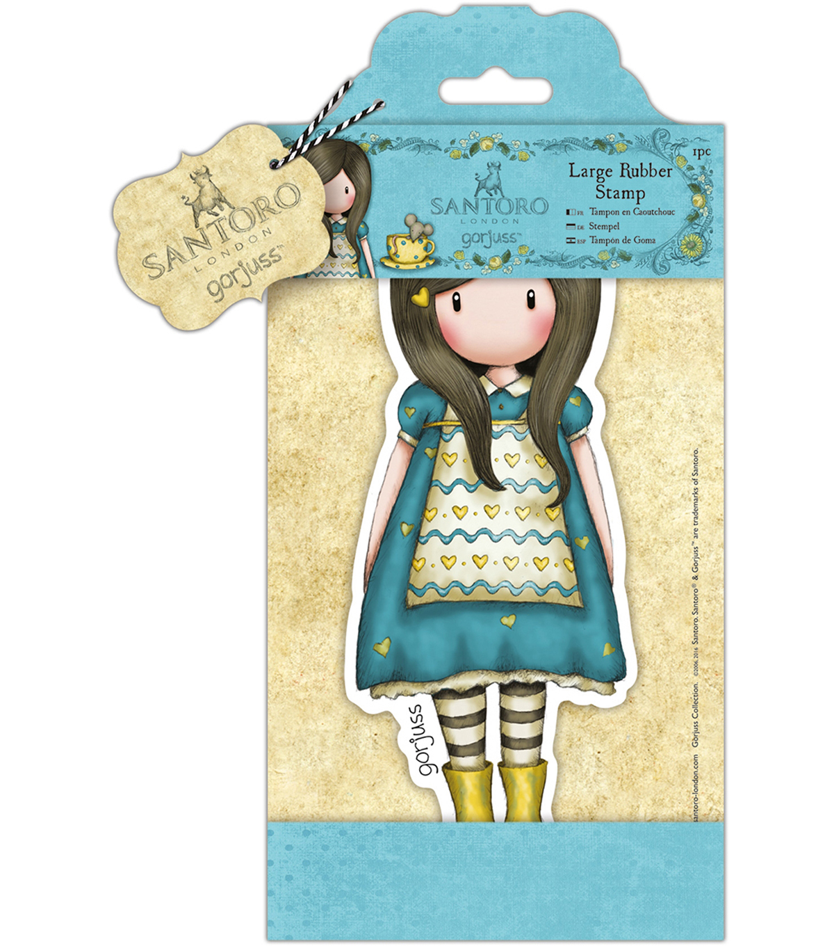 Santoro Large Rubber Stamps-The Little Friend