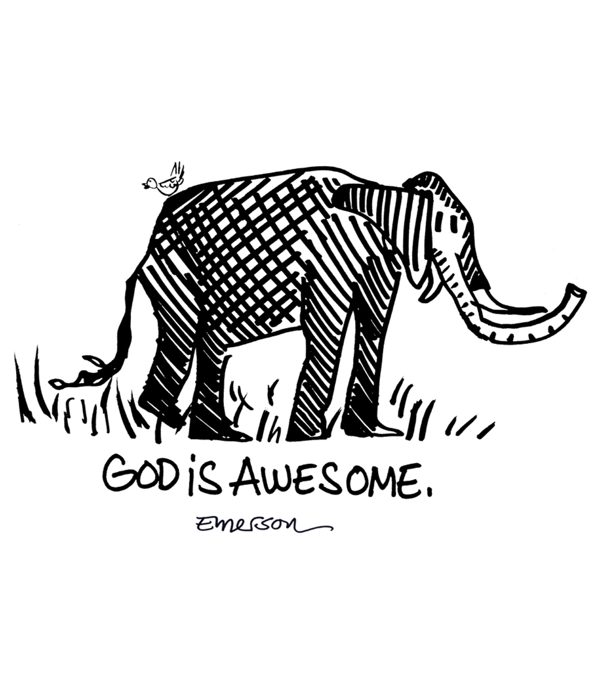 Gourmet Rubber Stamps God Is Awesome Cling Stamps