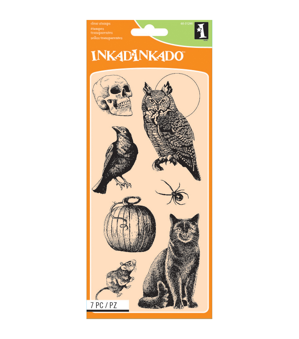 Inkadinkado® Halloween Clear Stamps-Creatures Of The Night