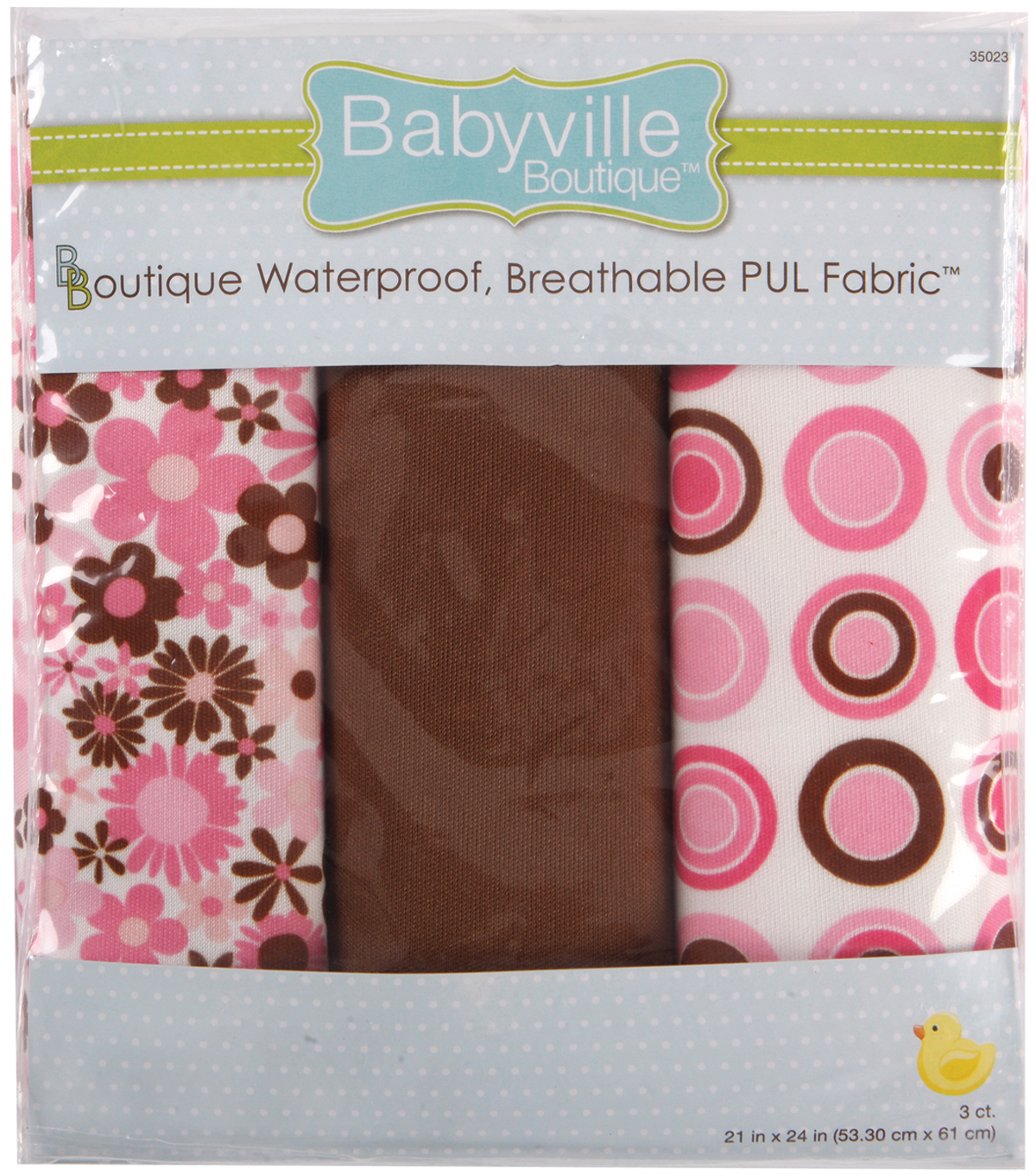 Babyville Mod Girl Waterproof Diaper Fabric Flowers & Dots