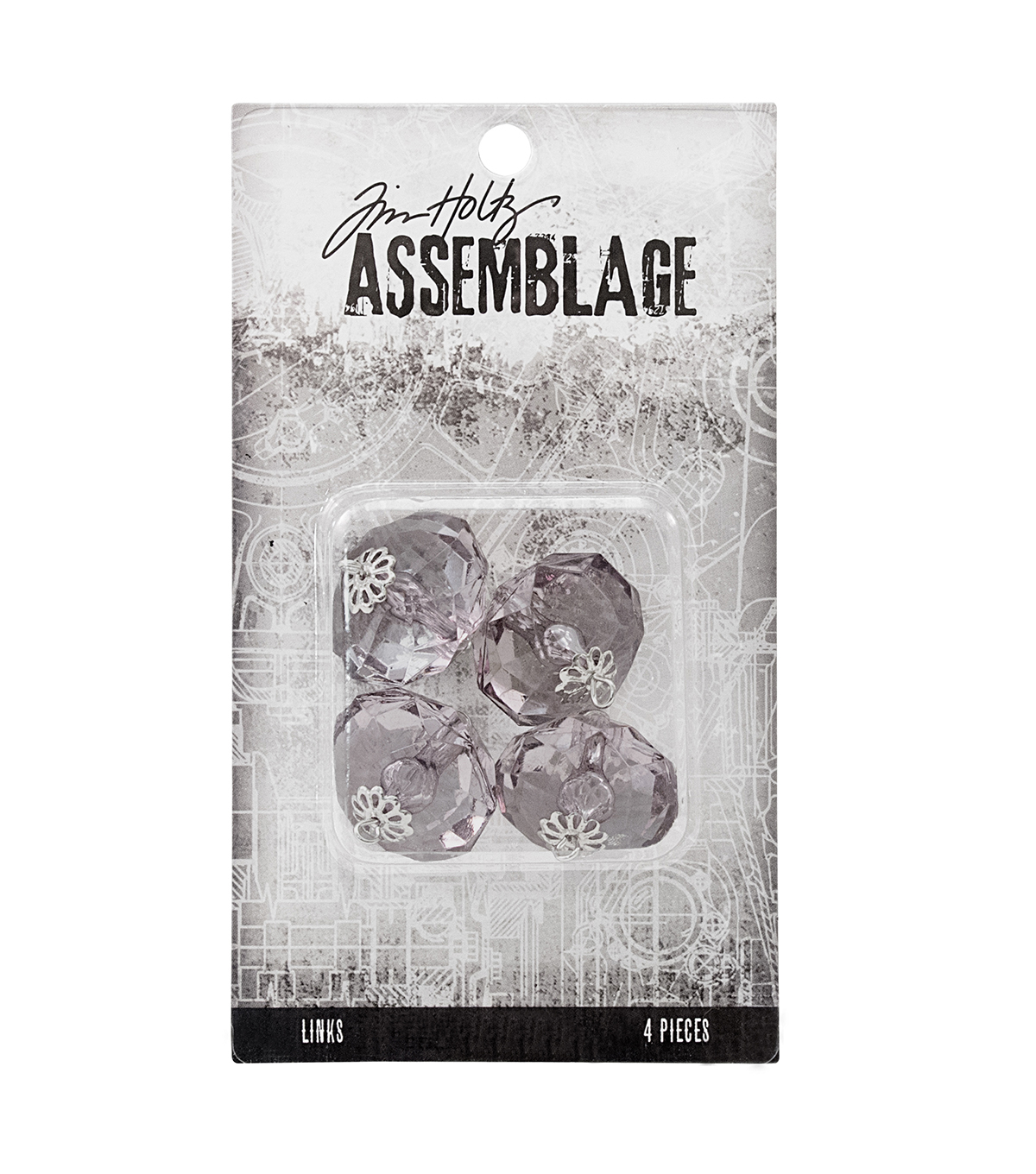 Tim Holtz® Assemblage Pack of 4 Large Crystals Links