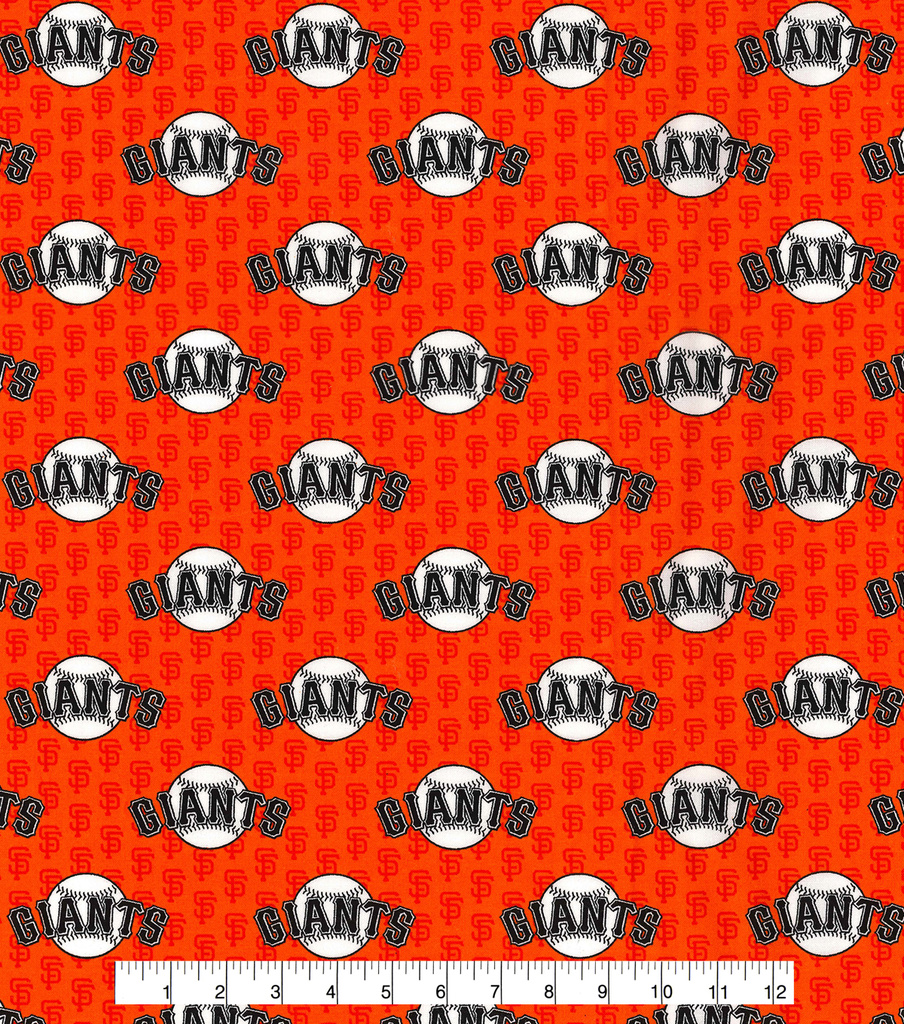 San Francisco Giants Cotton Fabric 58\u0022-Mini Print
