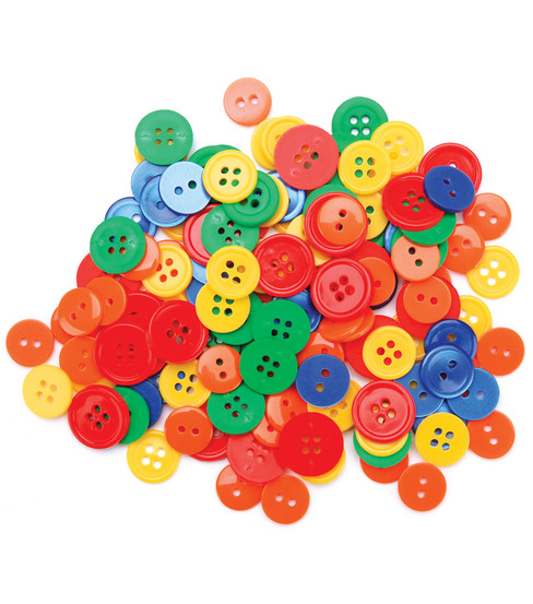 Favorite Findings Basic Buttons Assorted Sizes-Primary 130/pkg