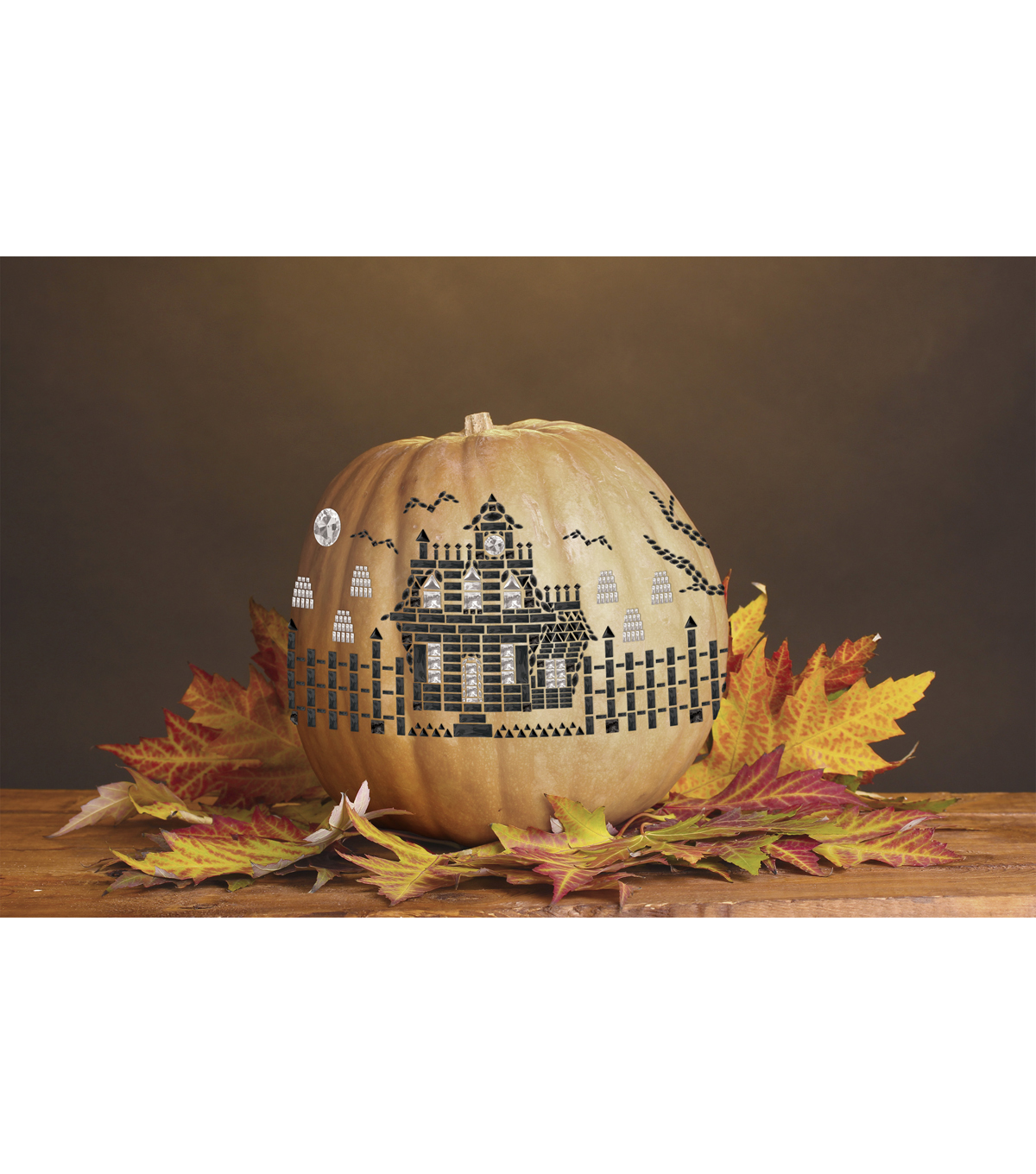 Jolee\u0027s Mega Pumpkin Bling-Haunted House