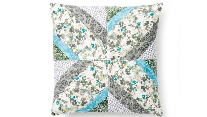 Foundation Pieced Quilted Pillow