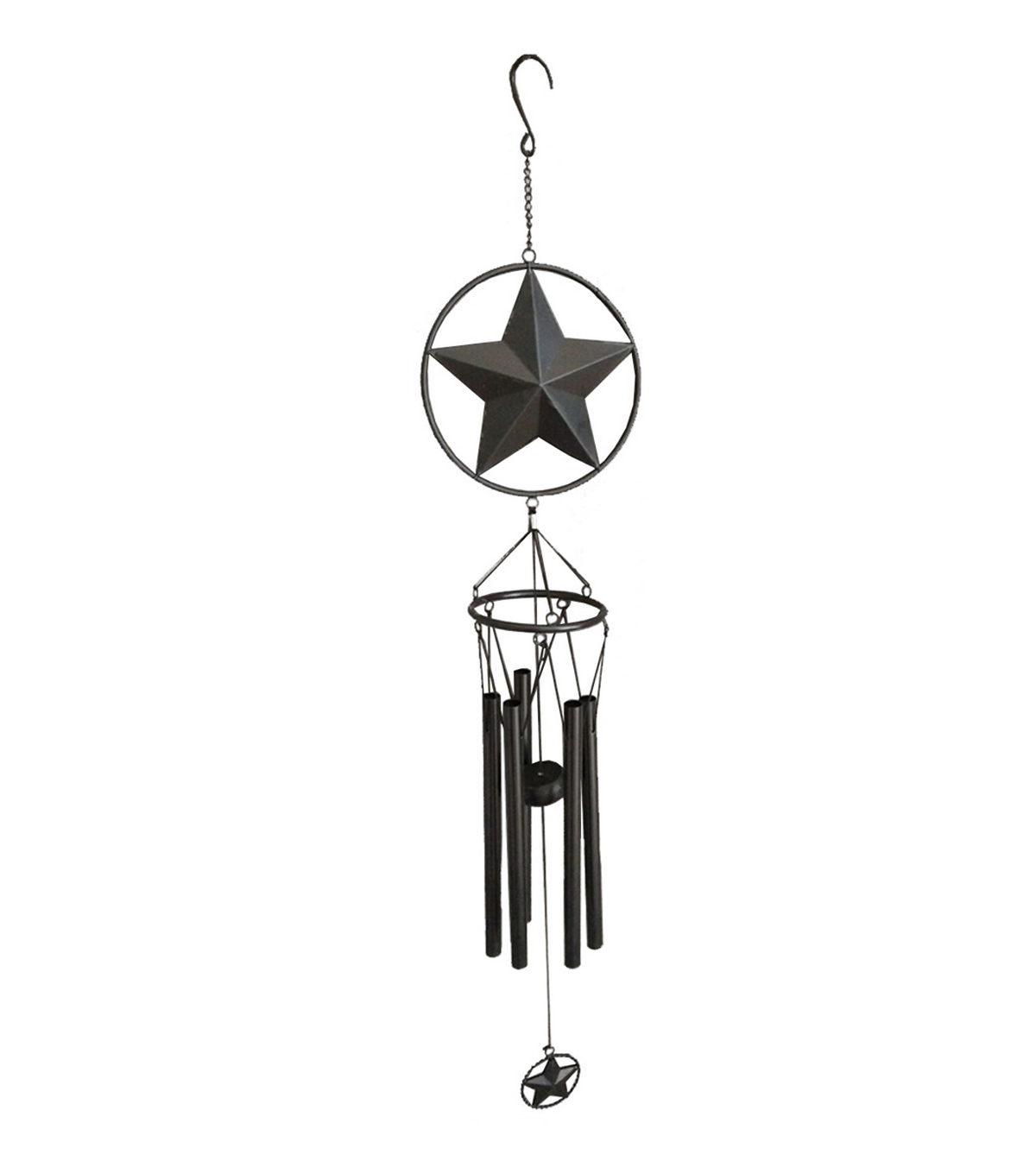 Wild Blooms Metal Star Wind Chime