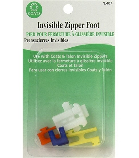 Singer Invisible Zipper Foot-Use With C&C Art F84