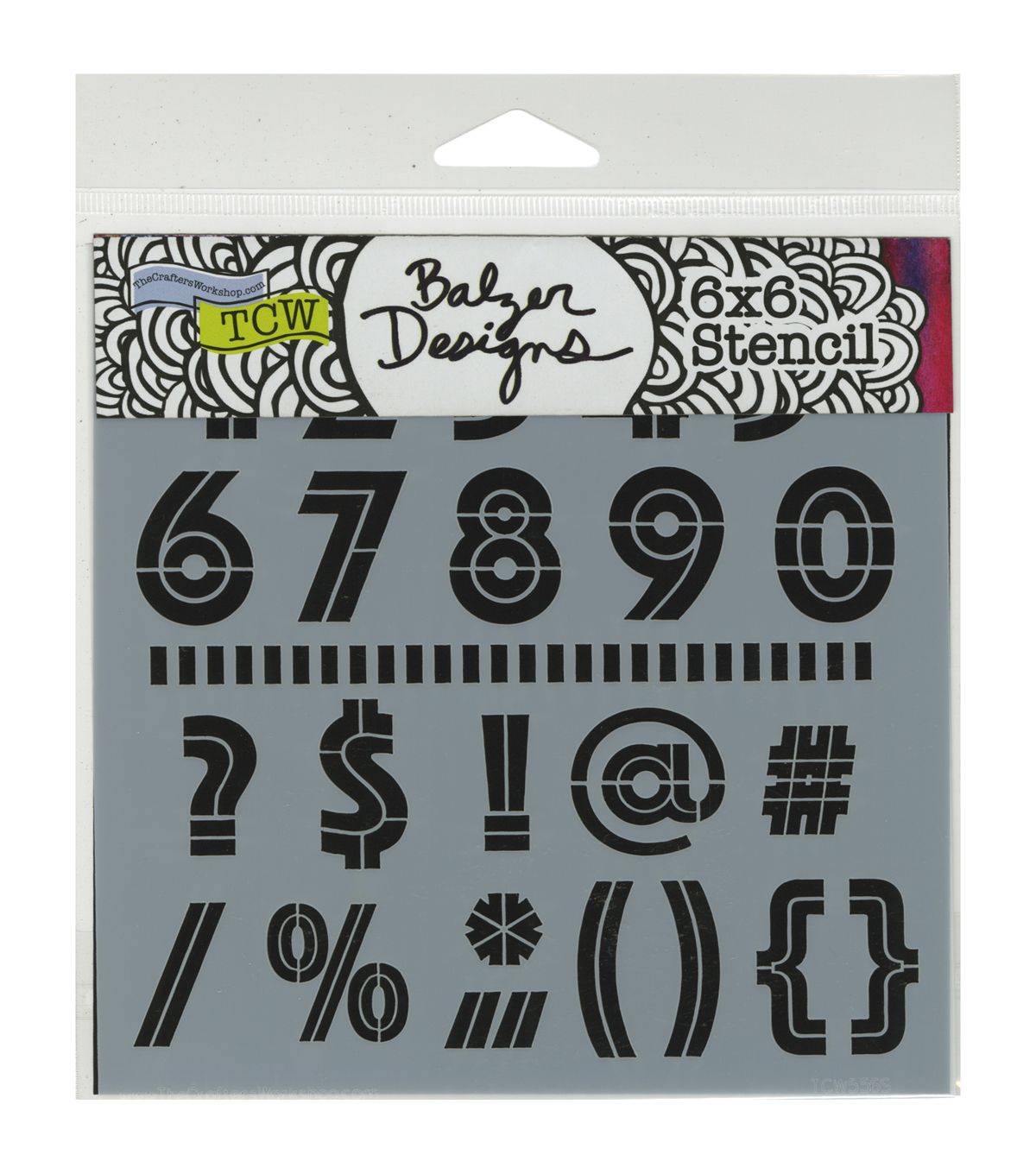 Crafter's Workshop 6''x6'' Template-Art Deco Numbers & More