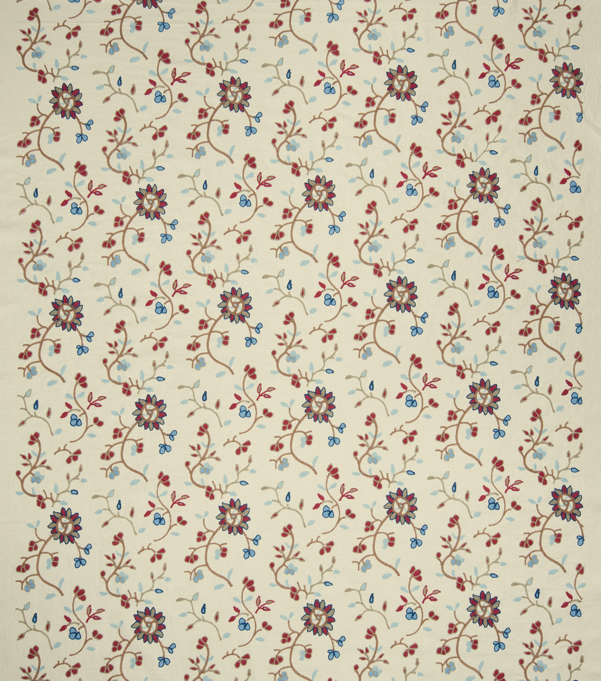 French General Print Fabric 51\u0022-Caspian/Indigo
