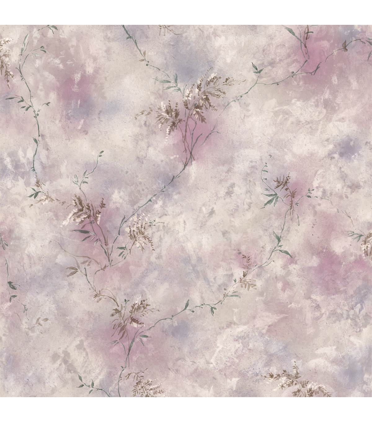 Bertrand Purple Satin Fern Texture Wallpaper Sample