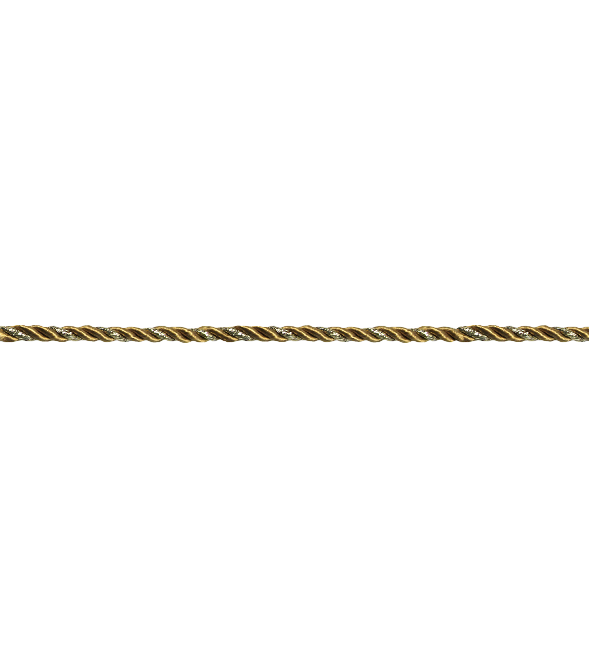 3/16\u0022 Gold Metallic Cord Apparel Trim