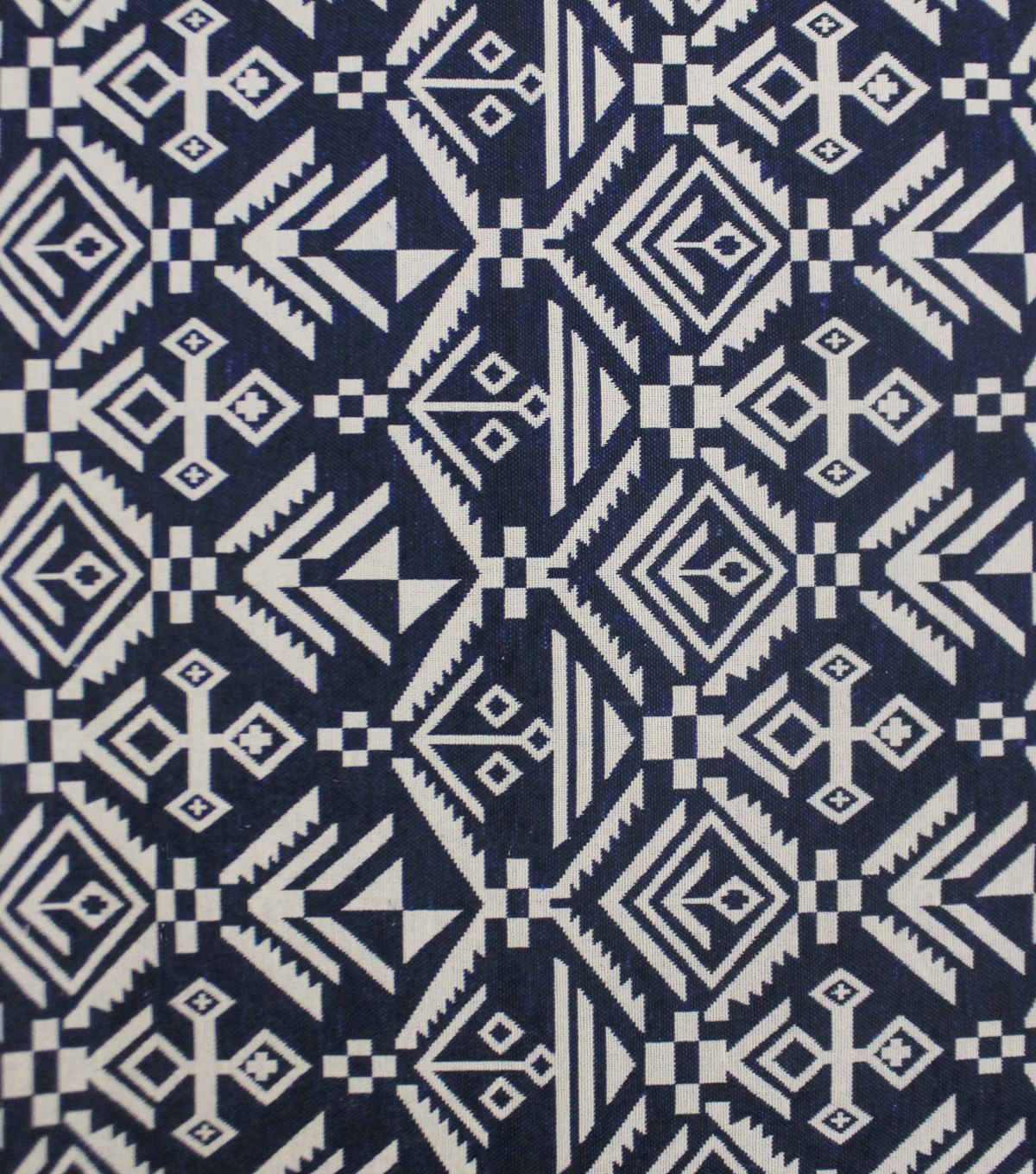 "Earth Child Apparel Jacquard Fabric 55""-Navy Aztec"