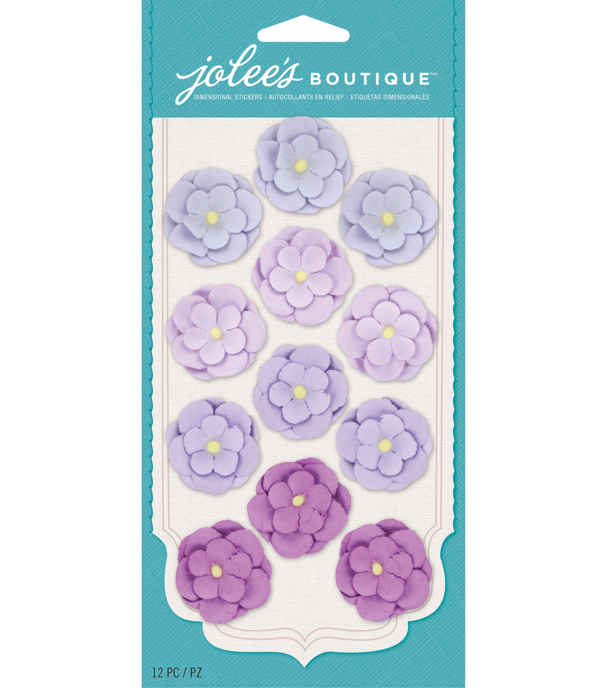 Jolee\u0027s Boutique - Purple Paper Flower Repeats