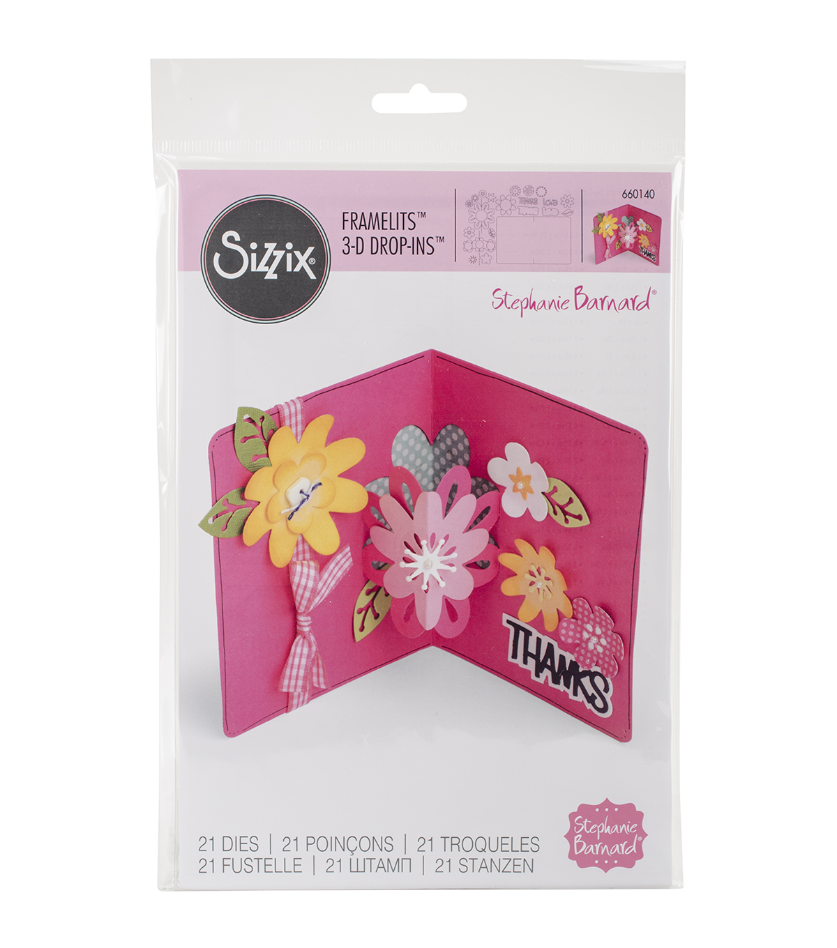 Sizzix® Framelits™ 21 pack Dies-Card with Flowers 3D Drop-Ins