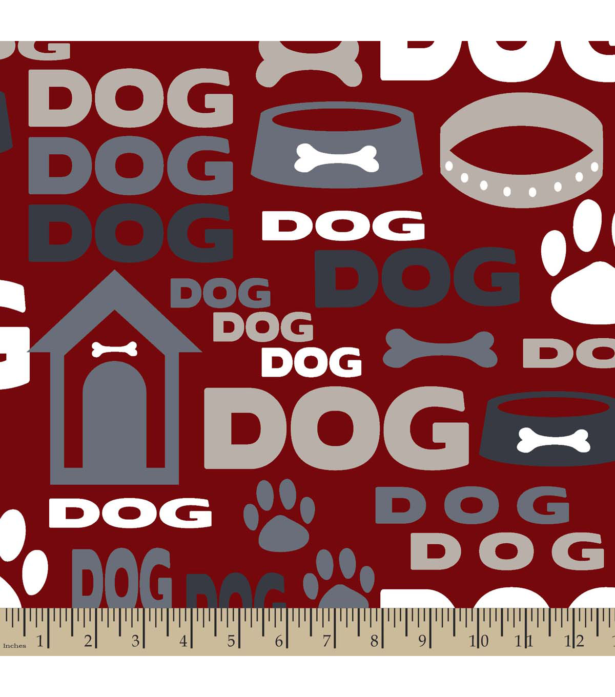 "Blizzard Fleece Fabric 59""-Dog Gone Bone"