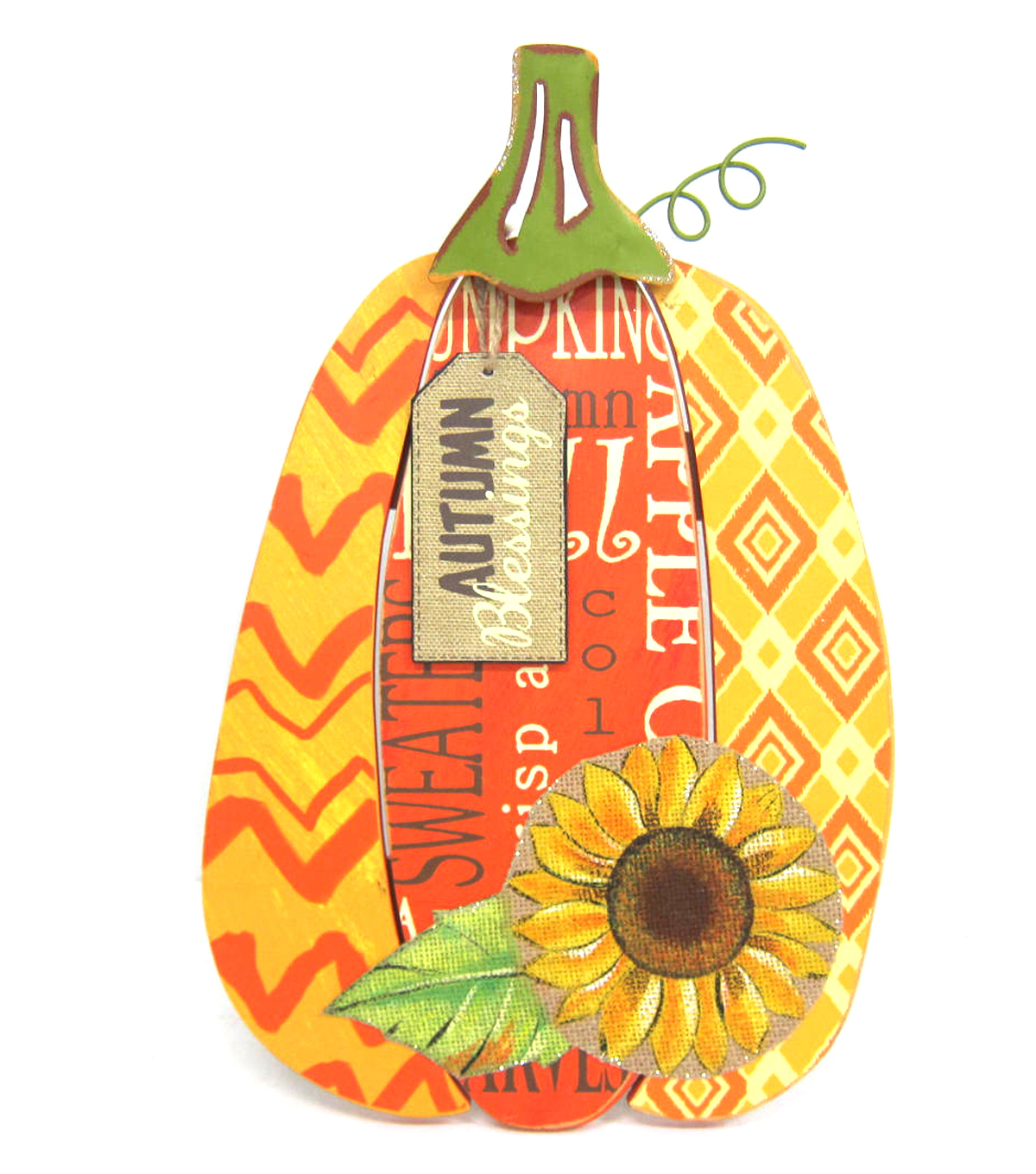 Fall For All Autumn Blessings Wood Pumpkin Wall Hanging