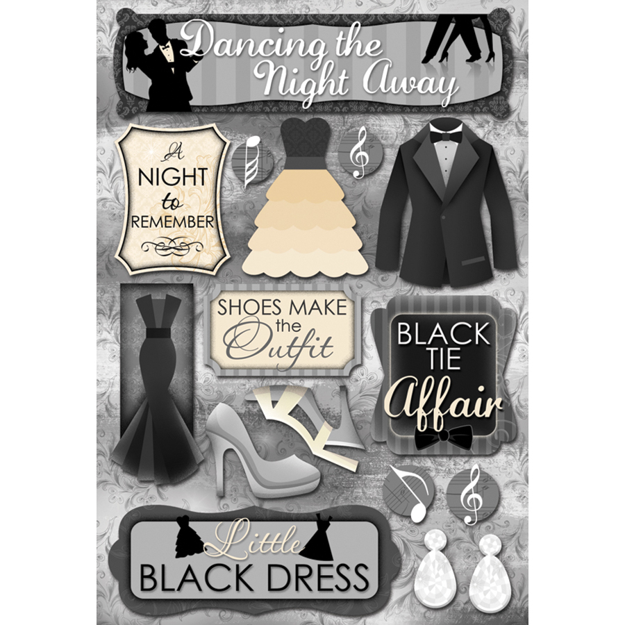 Karen Foster Prom Cardstock Stickers Dancing The Night Away