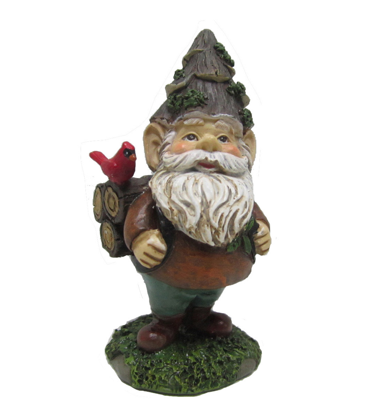 Maker\u0027s Holiday Christmas Littles Gnome with Cardinal
