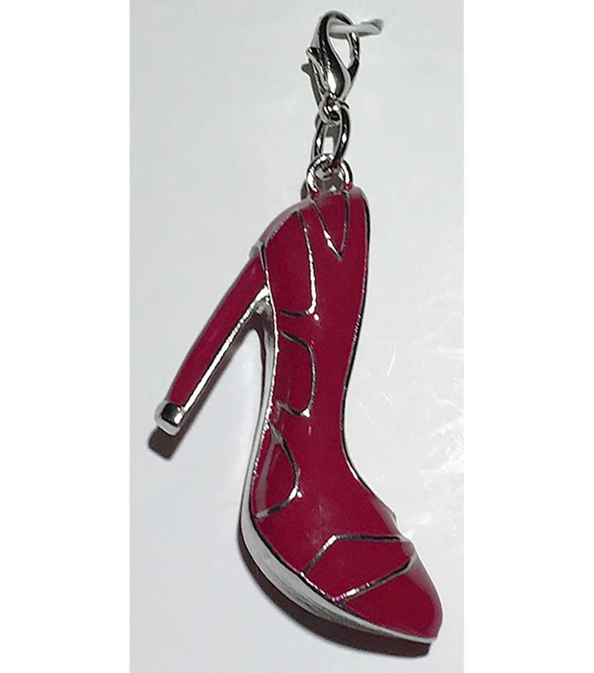 Clip on Shoe-Red & Silver Heel